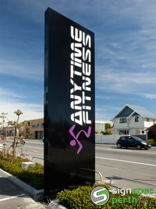 Sign Spec Perth Anytime Fitness Pylon Signage