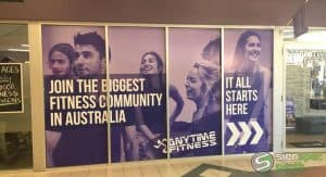 Sign Spec Perth window signage Anytime Fitness