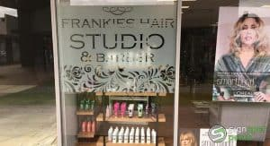 Sign Spec Perth window signage Frankies Hair Studio