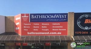 Sign Spec Perth building signage Bathroom West WA