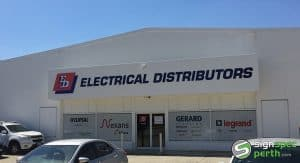 Sign Spec Perth building signage Electrical Distributors