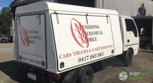 Sign Spec Perth car wrap Mundijong Mechanical Mobile