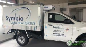 Sign Spec Perth vehicle signage Symbio Laboratories