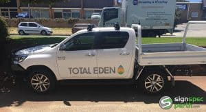 Sign Spec Perth vehicle signage Total Eden